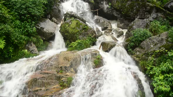 Raging Waterfall During Rainstorm Sapa Vietnam 11