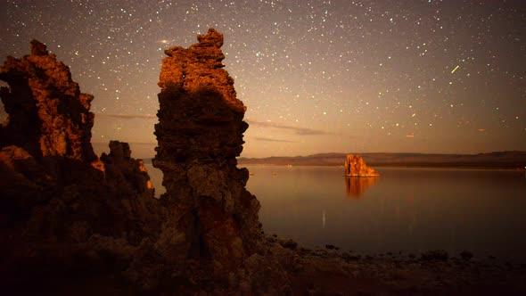 Tufa Formation On Scenic Mono Lake California At Sunset 2