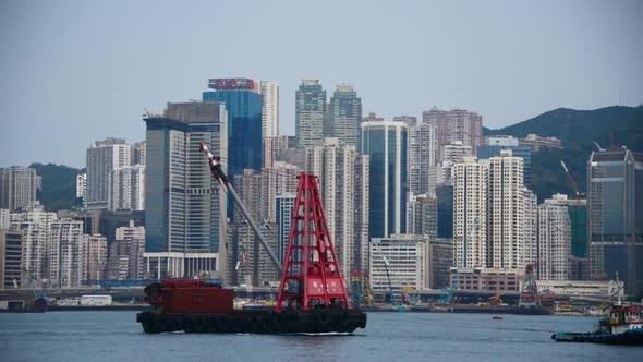 VideoHive Victoria Harbour And Hong Kong Skyline Daytime Hong Kong China 1 10976011