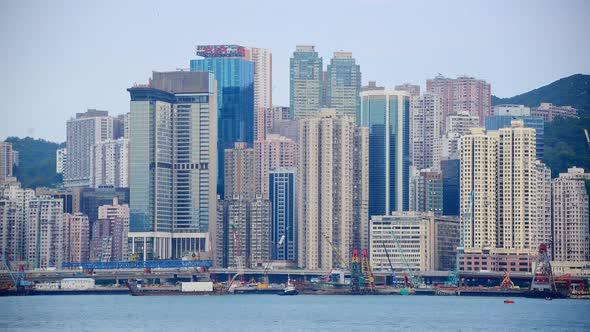 VideoHive Victoria Harbour And Hong Kong Skyline Daytime Hong Kong China 2 10976022