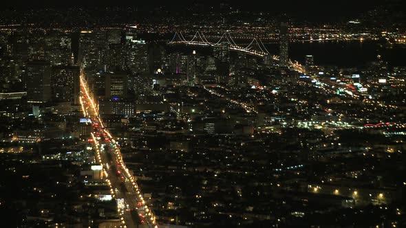 Night View Of San Francisco Bay- Clip 3