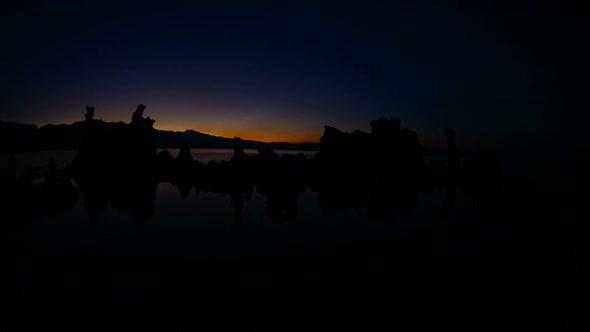 Tufa Formation On Scenic Mono Lake California At Sunset 5