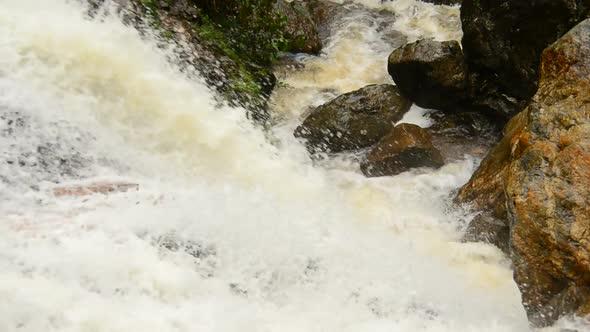 Raging Waterfall During Rainstorm Sapa Vietnam 7