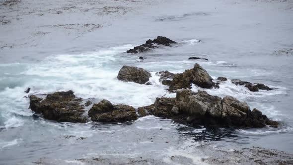 VideoHive Waves Crashing On Rocks Big Sur 2 10976097