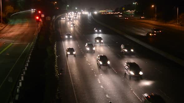 Busy Freeway Traffic In Los Angeles 1