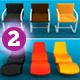 Cool Chairs and Couches Set  -  Set 02 - 3DOcean Item for Sale