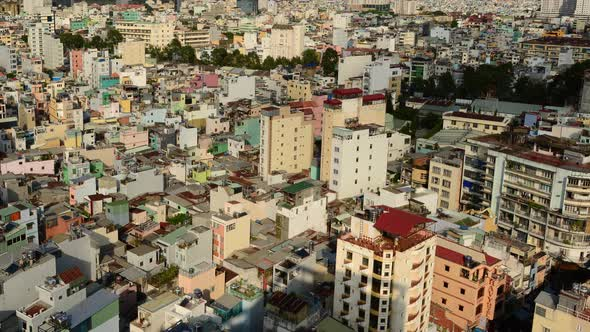 Shadows Sweeping Across Rooftops In Ho Chi Minh City Vietnam 3