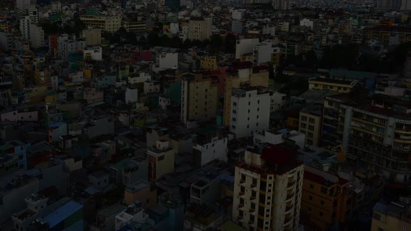 Shadows Sweeping Across Rooftops In Ho Chi Minh City Vietnam 4