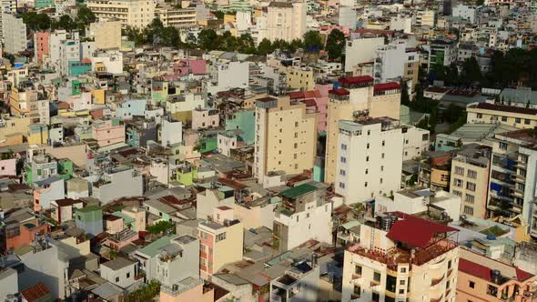 Shadows Sweeping Across Rooftops In Ho Chi Minh City Vietnam 5