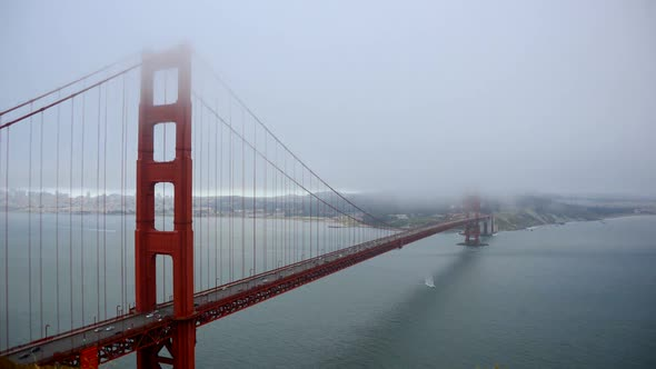 Golden Gate Bridge Covered In Fog 2