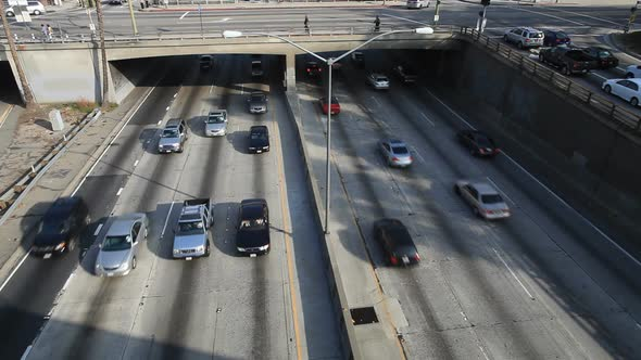 VideoHive Heavy Traffic On Overpass On The 101 Freeway In Downtown Los Angeles 1 10976675