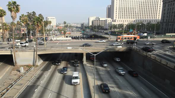 VideoHive Heavy Traffic On Overpass On The 101 Freeway In Downtown Los Angeles 2 10976684