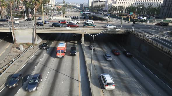VideoHive Heavy Traffic On Overpass On The 101 Freeway In Downtown Los Angeles 3 10976691