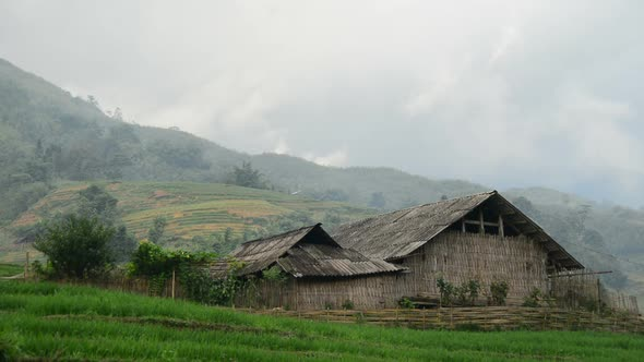 Farm House With Rice Terraces In Valley Sapa Vietnam 4
