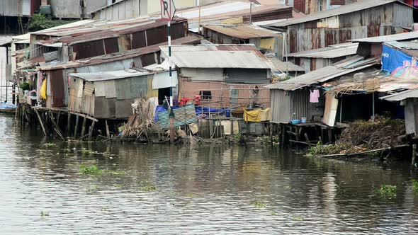 Shacks On The Saigon River Ho Chi Minh City Saigon Vietnam 6