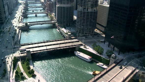 VideoHive Chicago River Downtown From Above 10976873