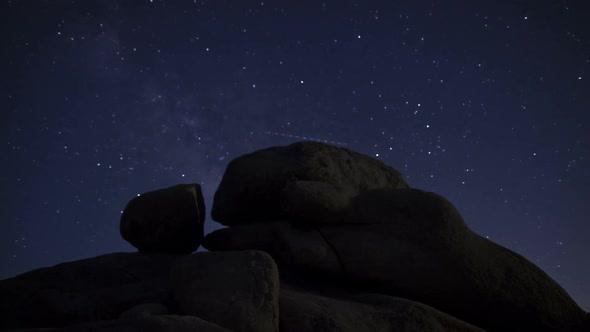 Joshua Tree Desert Landscape At Night 5