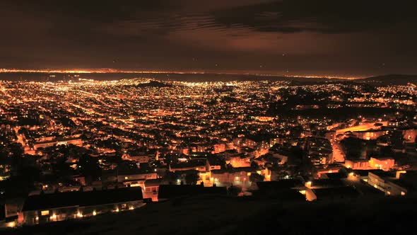 City Of San Francisco At Night From Twin Peaks Clip 2