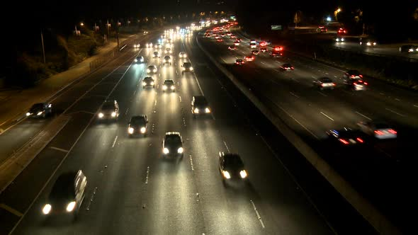 Busy Highway At Night Los Angeles 2