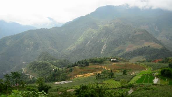 Rice Terraces In Green Valley Sapa Vietnam 1