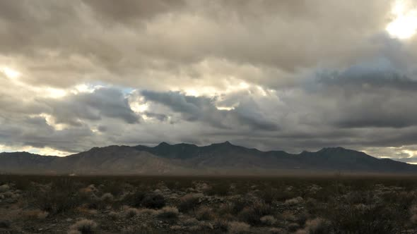 The Mojave Desert Storm Clouds Clip 1