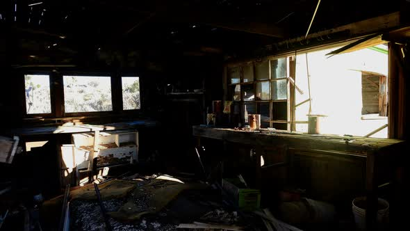 Light Rays In Abandon House During Sunrise 2