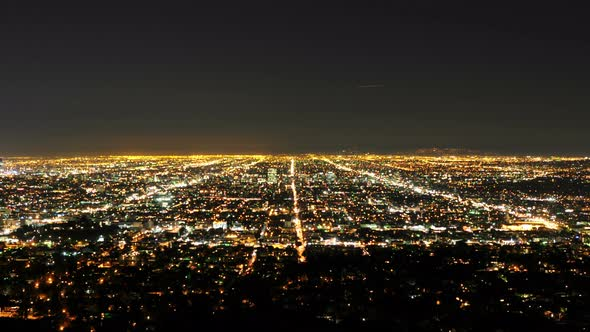 Time Lapse Of Los Angeles At Night- 4k 1