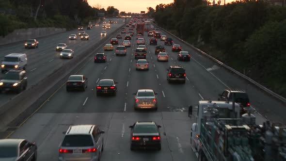 Los Angeles Freeway Traffic Clip 16