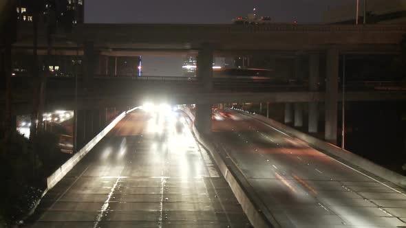 Los Angeles Freeway Traffic Clip 17