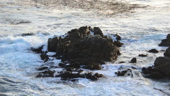 Pacific Ocean Waves Crashing On Rocks Big Sur 1