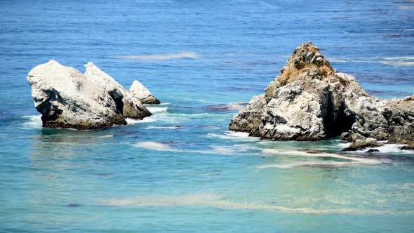 Pacific Ocean Waves Crashing On Rocks Big Sur 5