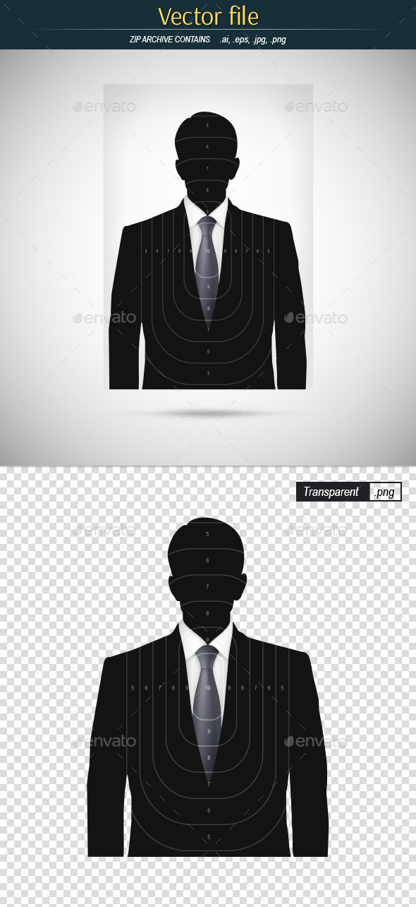 GraphicRiver Target Shooting with a Silhouette of a Businessman 10977721