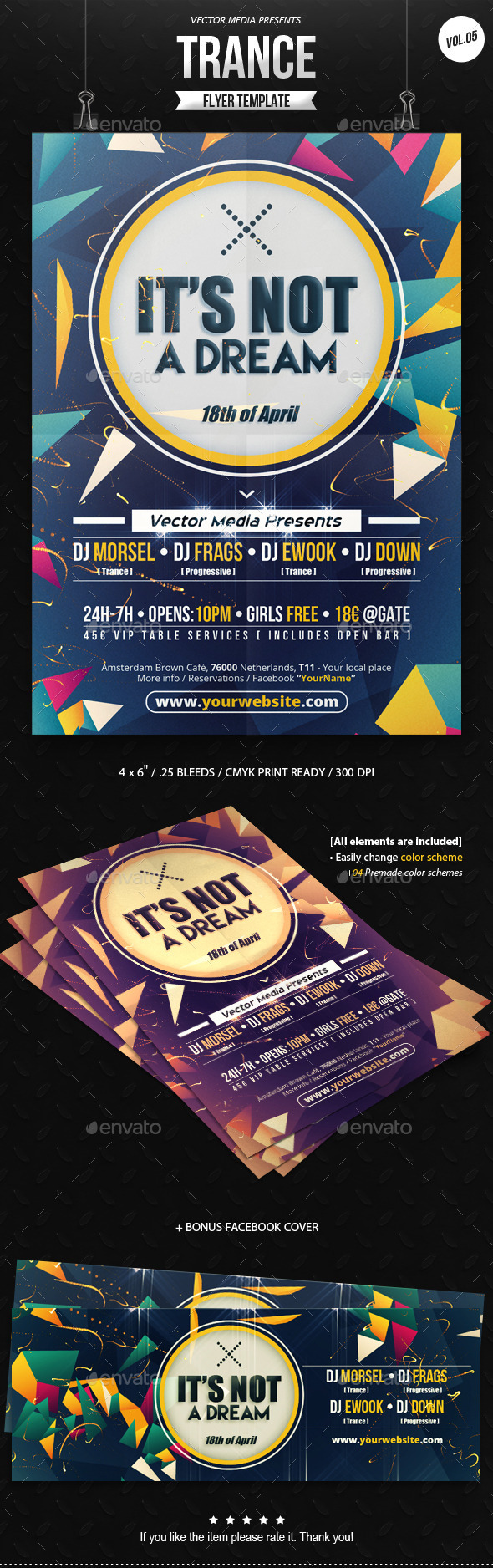 GraphicRiver Trance Flyer [Vol.05] 10882319
