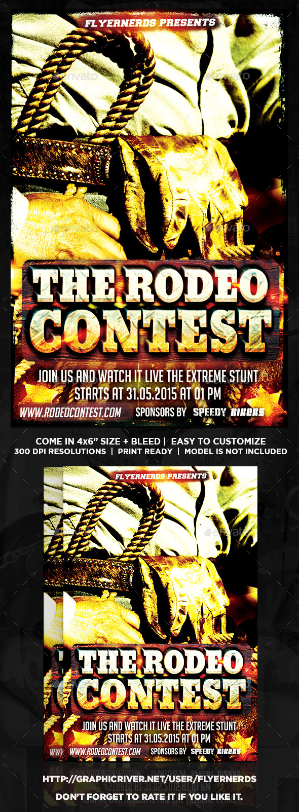 GraphicRiver Rodeo Contest Sports Flyer 10922887