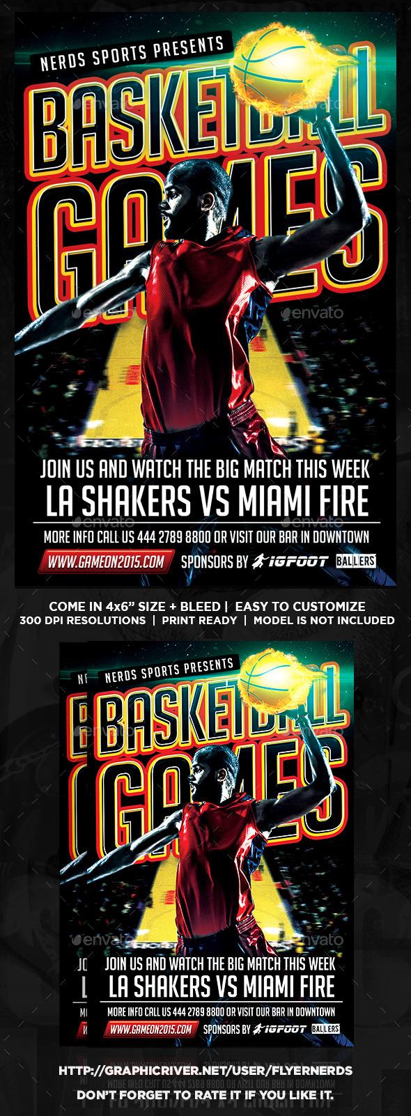 GraphicRiver Basketball Games 2K15 Sports Flyer 10977931