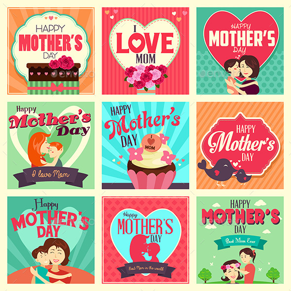 GraphicRiver Mother s Day Cards 10977964