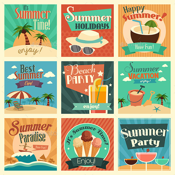 GraphicRiver Summer Icons 10977976