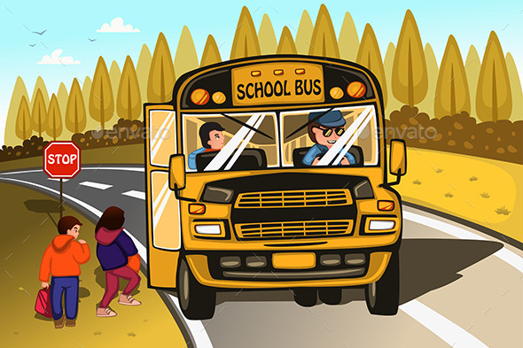 GraphicRiver School Bus 10977989