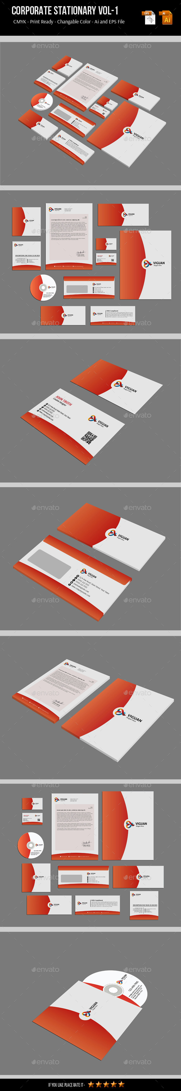 GraphicRiver Corporate Stationary Vol-1 7200802
