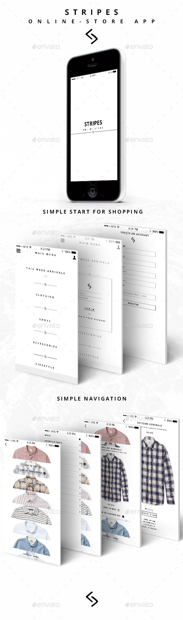 GraphicRiver Stripes Online Store App 10957149