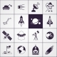 Space Icons Black - GraphicRiver Item for Sale