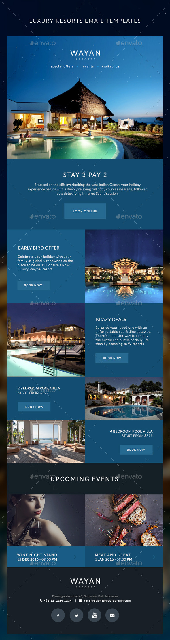 GraphicRiver Resorts Email Templates Wayan 10978196