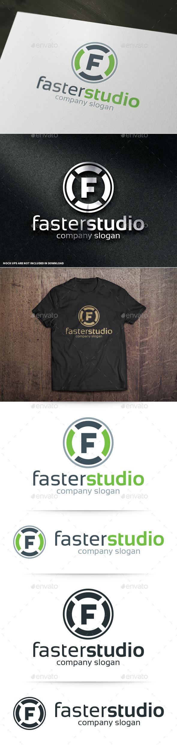 GraphicRiver Faster Studio Letter F Logo 10978247