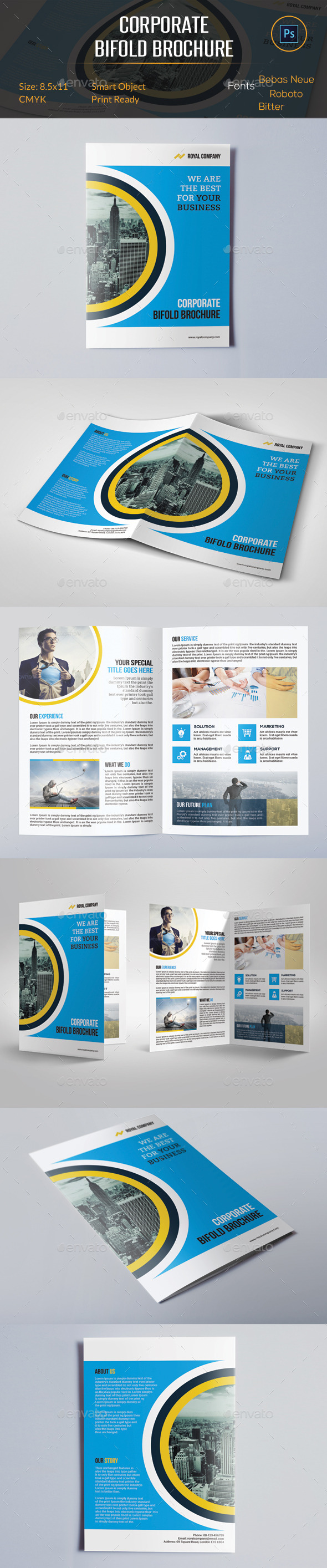 GraphicRiver Corporate Bifold Brochure 10978459