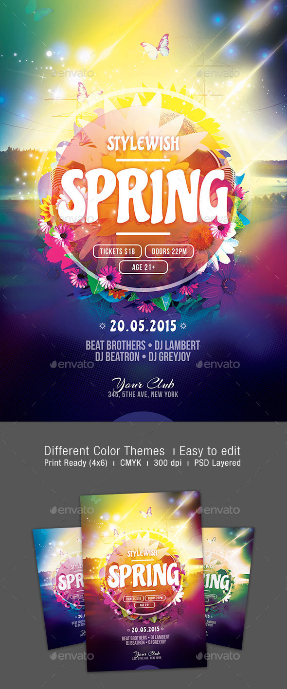 GraphicRiver Spring Flyer Template 10978621