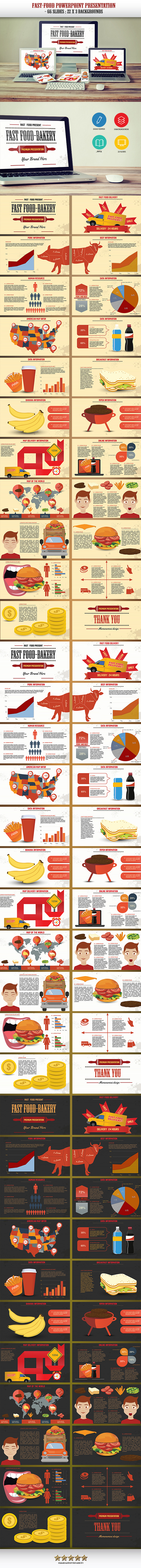 GraphicRiver Fast Food Powerpoint Presentation 10906507