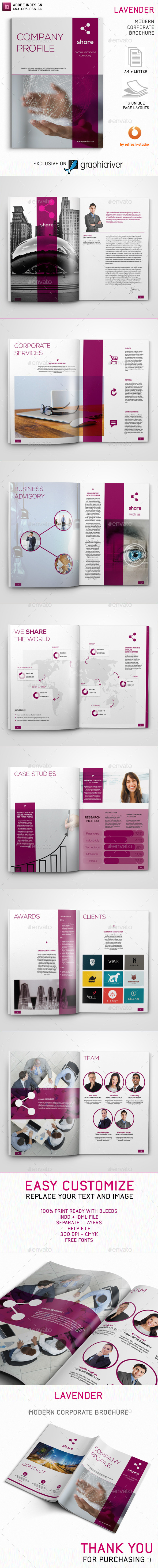 GraphicRiver Lavender Brochure 10979100