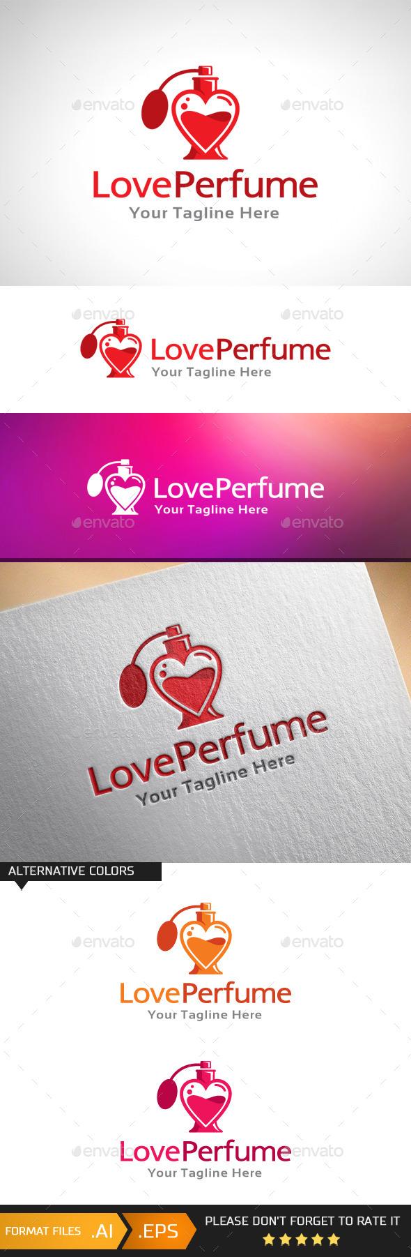 GraphicRiver Love Perfume Logo Template 10979111