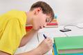 Teenager doing Homework - PhotoDune Item for Sale