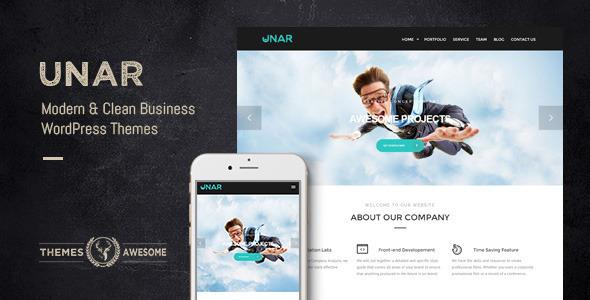 ThemeForest Unar Modern & Clean Business WordPress Theme 10979422